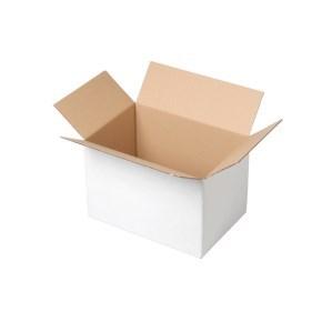 Krabice z třívrstvého kartonu 200x200x150, klopová (0201) BÍLÁ