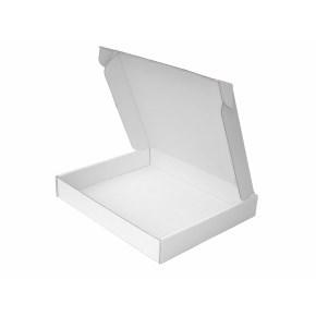 Krabice z třívrstvého kartonu 240x205x35 zásilková, bílo-bílá