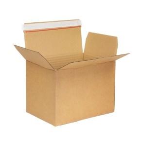 Krabice z třívrstvého kartonu 304x216x220 mm, samolepicí klopy, A4 formát