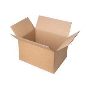 Krabice z třívrstvého kartonu 365x275x148 mm, klopová (0201) kraft