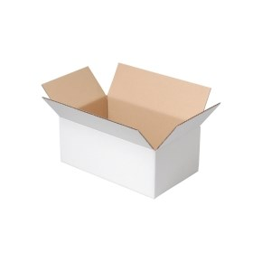 Krabice z třívrstvého kartonu 400x300x100, klopová (0201) BÍLÁ