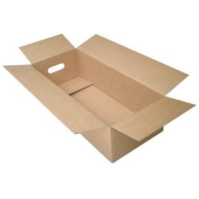 Krabice z třívrstvého kartonu 565x239x149, klopová (0201), výsek na ruce