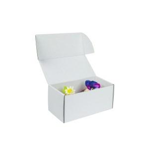 Krabička na 2 muffiny/cupcakes, 185x95x90 mm, bílá s vložkou