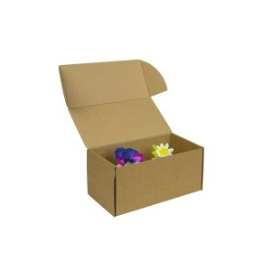 Krabička na 2 muffiny/cupcakes, 185x95x90 mm, hnědá - kraft s vložkou