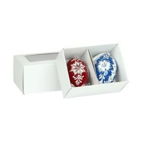 Krabička na 2 velikonoční kraslice 105x74x65 mm