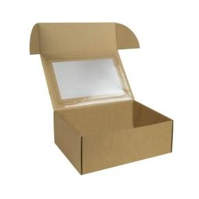 Krabička na 6 muffin/cupcakes 250x180x95 mm s vložkou, hnědá - kraft