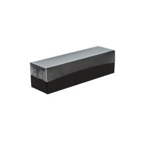 Krabička na makronky černá s průhledným víkem 180x50x50mm