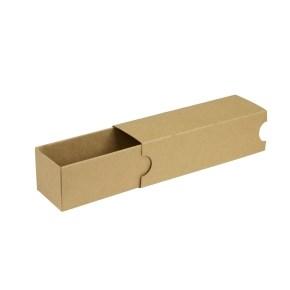 Krabička na makronky hnědá s návlekem 180x50x50mm
