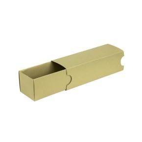 Krabička na makronky zlatá s návlekem 180x50x50mm