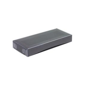 Krabička na pralinky 160x40x25 mm, černá s průhledným víkem