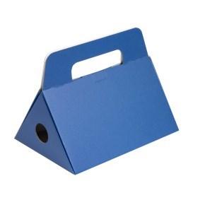 Odnoska na láhev vína 250x174x186 mm, modrá