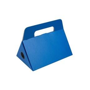 Odnoska na láhev vína 250x174x186 mm, modrá matná