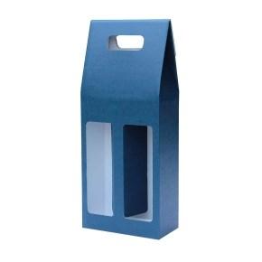 Odnoska na víno 160x80x320 mm, mikrovlna modro bílá 2x0,75l