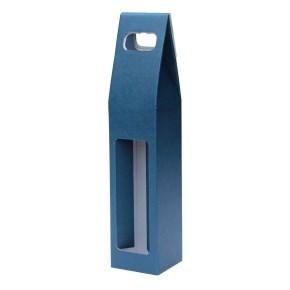 Odnoska na víno 80x80x320 mm, mikrovlna modro bílá 1x0,75l