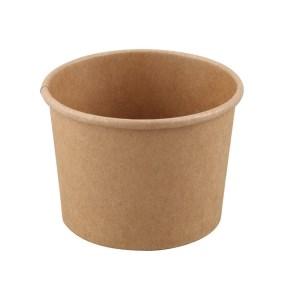 Papírová miska na polévku 480ml, průměr 111mm, hnědý KRAFT