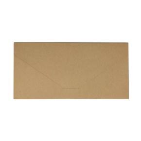 Papírová obálka s kapsou 220x110 mm, formát DL, hnědá - kraft