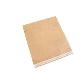 Papírová obálka zásilková 380x440 mm, samolepící pásky, hnědá - kraft