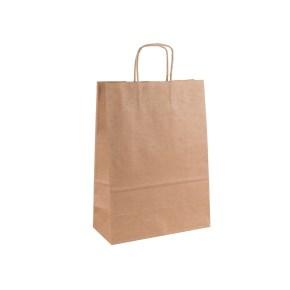 Papírová taška s krouceným uchem 220x110x295 mm, kraft