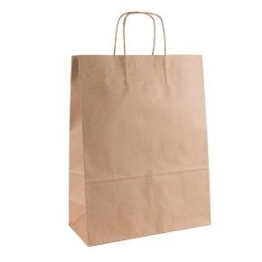Papírová taška s krouceným uchem 320x140x420 mm, kraft