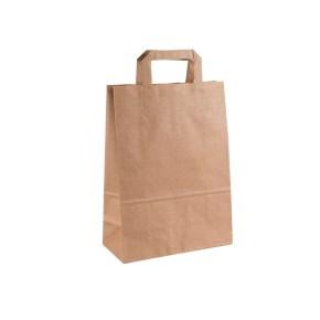 Papírová taška s plochým uchem 240x110x330 mm, kraft