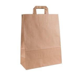 Papírová taška s plochým uchem 320x140x420 mm, kraft