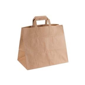 Papírová taška s plochým uchem 320x220x240 mm, kraft
