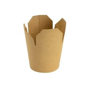Papírový FOOD BOX 750 ml, hnědý - kraft