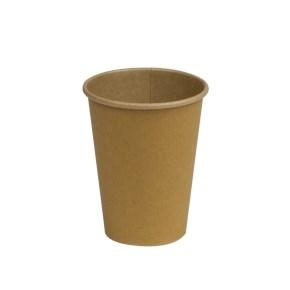 Papírový kelímek COFFEE TO GO 400 ml, průměr 90 mm, hnědý - kraft