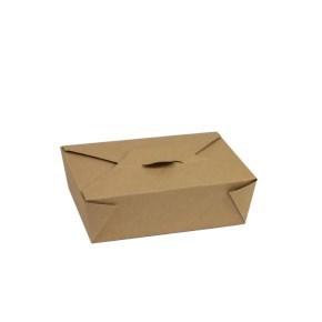 Papírový MENU BOX 195x140x65 mm, 1800 ml, hnědý - kraft