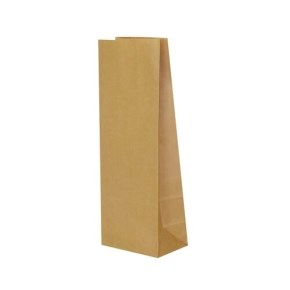 Papírový sáček s obdelníkovým dnem, 100x70x260 mm, hnědý