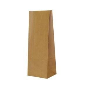 Papírový sáček s obdelníkovým dnem, 120x90x325 mm, hnědý