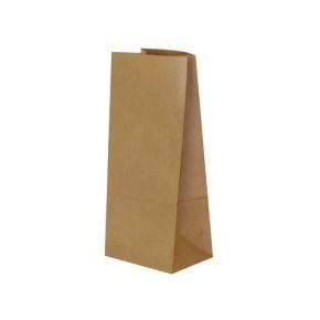 Papírový sáček s obdélníkovým dnem 90x65x190 mm, hnědý