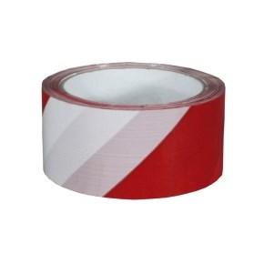 Páska samolepicí PP 50x66 tisk PRUHY bílá+červená