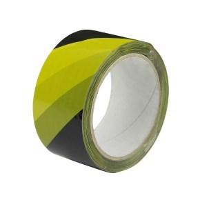 Páska samolepicí PP 50x66 tisk PRUHY žlutá+černá