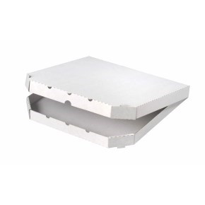 Pizza krabice 320x320x30mm, bez potisku, vysekávaná
