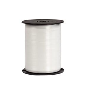Plastová stuha bílá, šíře 5 mm, délka 500 m, PP