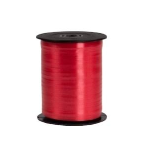 Plastová stuha tmavě červená, šíře 5 mm, délka 500 m, PP