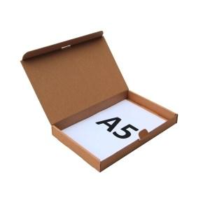 Poštovní krabice 225x150x25mm, do schránek, hnědá
