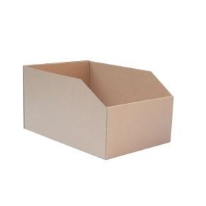 Regálový zásobník 195x278x150mm, hnědý kartonový