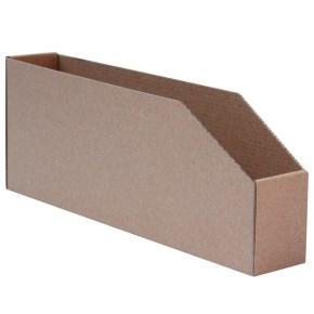 Regálový zásobník 45x278x107mm, hnědý kartonový