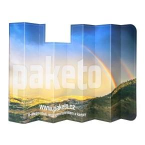 Reklamní sluneční clona na čelní sklo auta, 600x1290 mm s potiskem