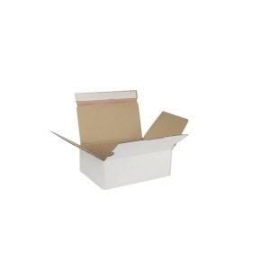 Rychlouzavírací krabice 3VVL 245x170x85 mm, lepicí páska, bílá
