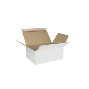 Rychlouzavírací krabice 3VVL 302x198x115 mm, lepicí páska, bílá