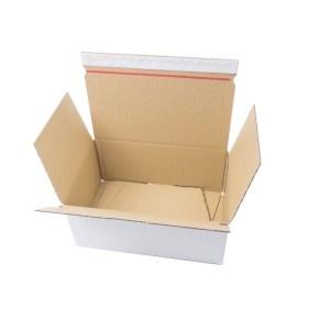 Rychlouzavírací krabice 3VVL 345x245x105 mm, lepicí páska, bílá