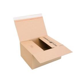 Rychlouzavírací krabice 3VVL 380x280x175 mm, lepící páska, kraft