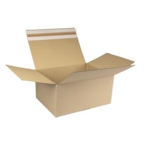 Rychlouzavírací krabice 3VVL 394x294x188 mm, samolepicí klopa