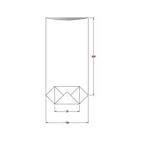 Sáček celofánový 120x240 mm, PP, s křížovým dnem