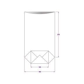 Sáček celofánový 180x305 mm, PP, s křížovým dnem