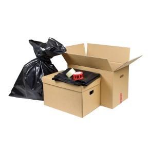 Sada krabic a prostředků pro stěhování