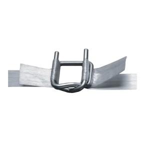 Spona vázací pro polyesterovou pásku PES šíře 19mm, drátěná, fosfát